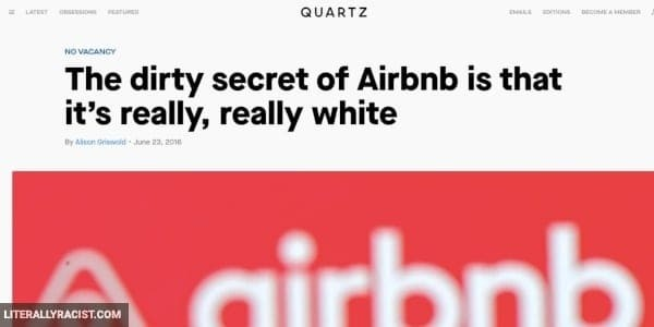 Damn White People And Their Racist Airbnb Hosts