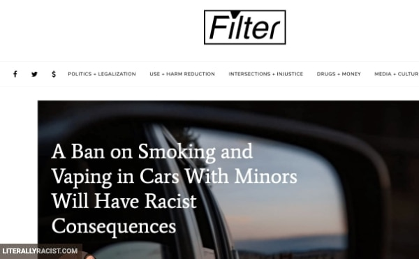 Damn White People And Their Racist Ban On Minors Vaping In Cars