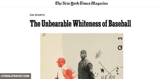 Damn White People And Their Racist Baseball