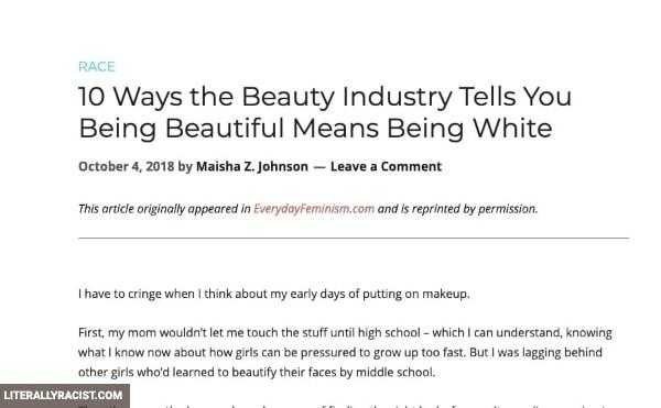 Damn White People And Their Racist Beauty Standards