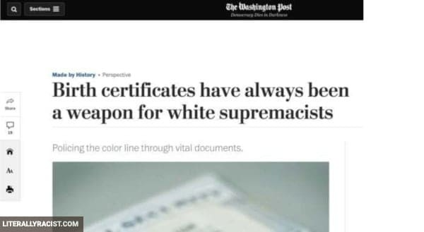 Damn White People And Their Racist Birth Certificates
