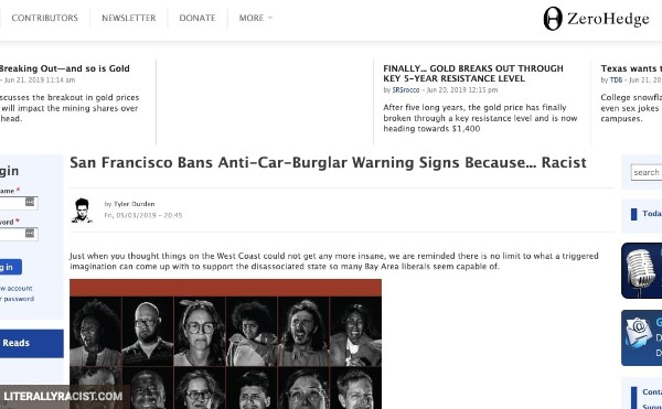 Damn White People And Their Racist Car Burglary Warning Signs