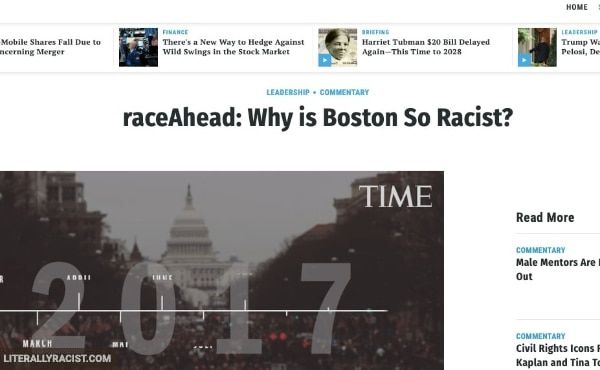 Damn White People And Their Racist City of Boston