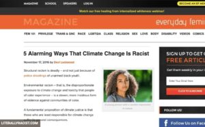 Damn White People And Their Racist Climate Change