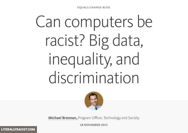 Damn White People And Their Racist Computers