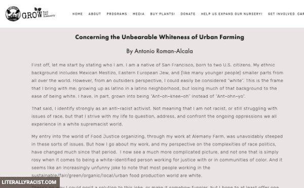 Damn White People And Their Racist Urban Farming