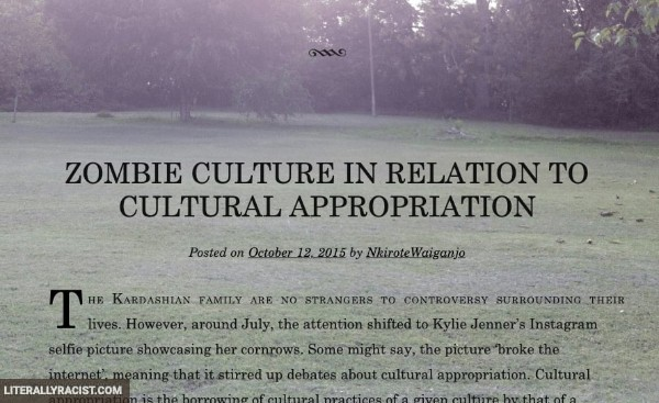 Damn White People And Their Racist Cultural Appropriation of Zombies