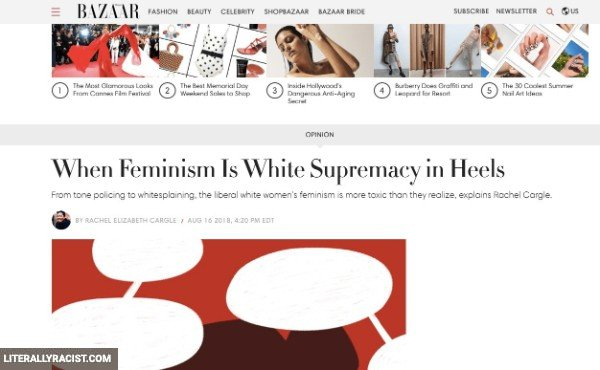 Damn White People And Their Racist Feminism