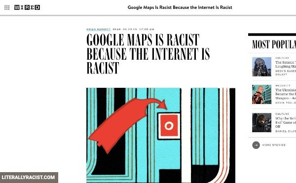 Damn White People And Their Racist Google Maps