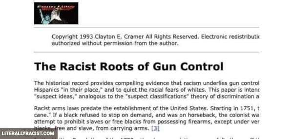 Damn White People And Their Racist Gun Control Laws