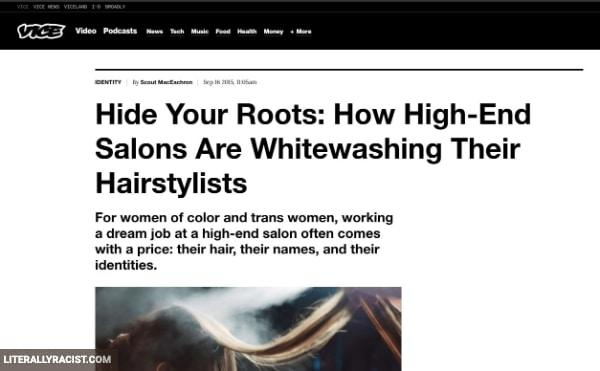 Damn White People And Their Racist Hairstyling Jobs