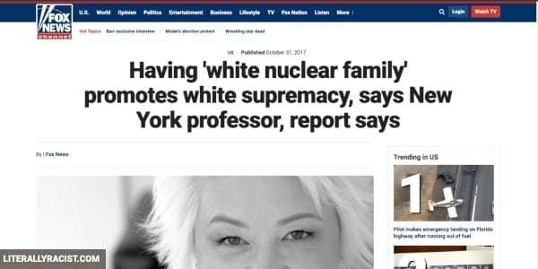 Damn White People And Their Racist Having Traditional Families