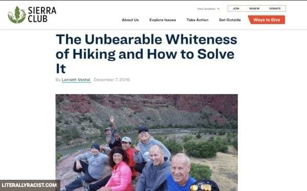 Damn White People And Their Racist Hiking