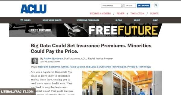 Damn White People And Their Racist Insurance Premiums