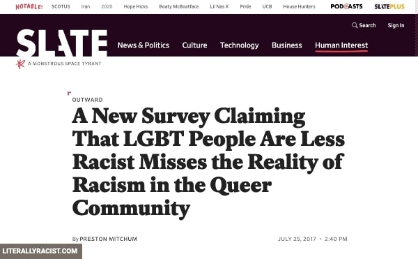 Damn White People And Their Racist LGBTQ Community