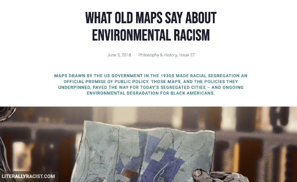Damn White People And Their Racist Maps and Environmental Racism