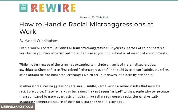 Damn White People And Their Racist Microaggressions
