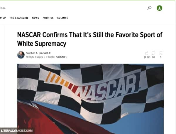 Damn White People And Their Racist NASCAR Racing