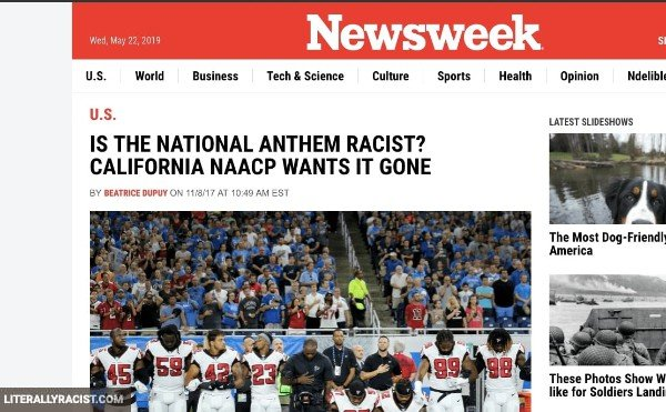 Damn White People And Their Racist National Anthem