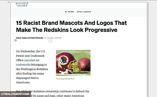 Damn White People And Their Racist Brand Mascots