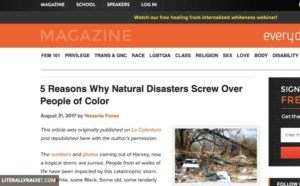 Damn White People And Their Racist Natural Disasters