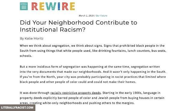 Damn White People And Their Racist Neighborhoods