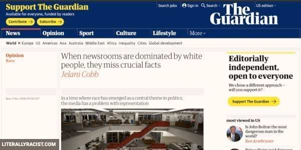 Damn White People And Their Racist Newsrooms