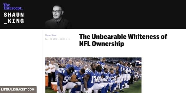 Damn White People And Their Racist NFL Ownership