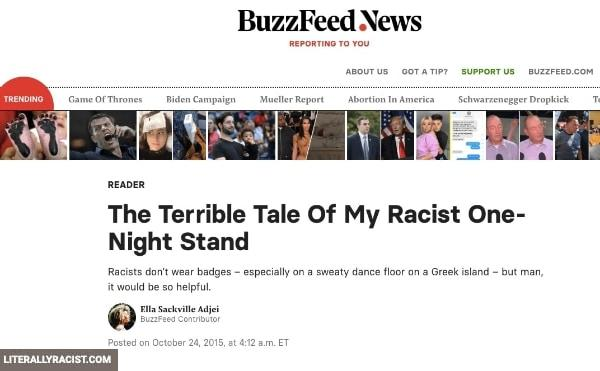 Damn White People And Their Racist One Night Stands