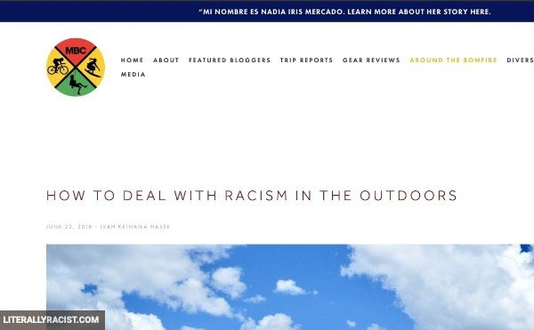 Damn White People And Their Racist Outdoor Activities