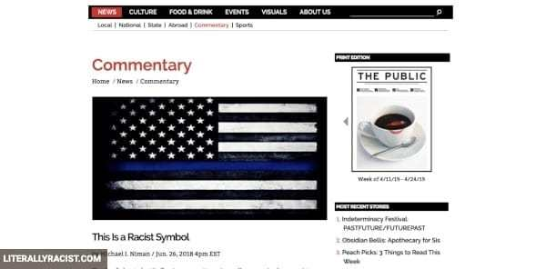 Damn White People And Their Racist Police Memorial Flag