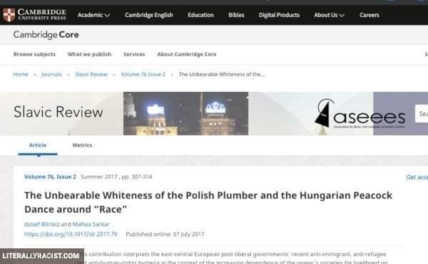 Damn White People And Their Racist Polish Plumbers