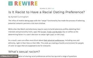 Damn White People And Their Racist Racial Dating Preferences