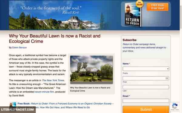 Damn White People And Their Racist Beautiful Lawns