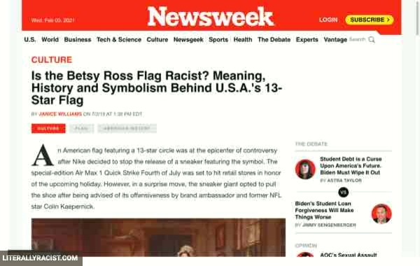 Damn White People And Their Racist Betsy Ross Flag