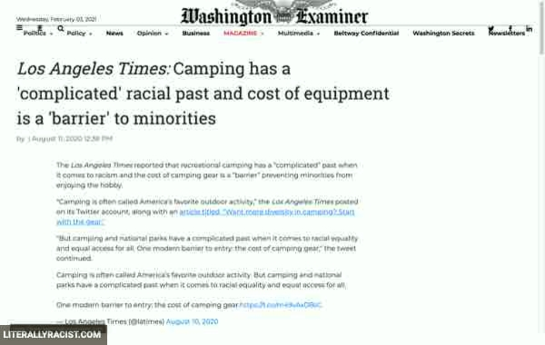 Damn White People And Their Racist Camping