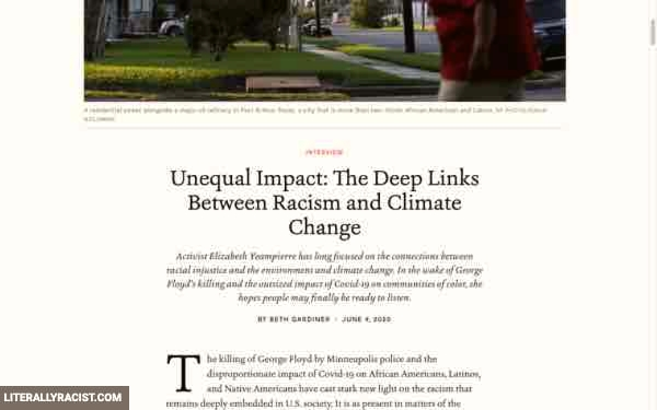 Racist Climate Change Impact
