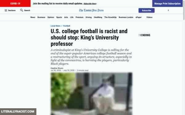Racist College Football