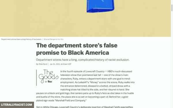 Damn White People And Their Racist Department Stores