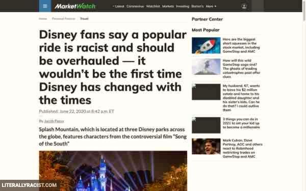 Damn White People And Their Racist Disney Theme Park Rides