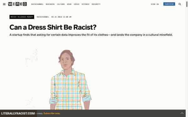 Damn White People And Their Racist Dress Shirts