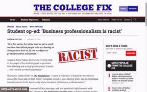 Racist Dressing Professionally