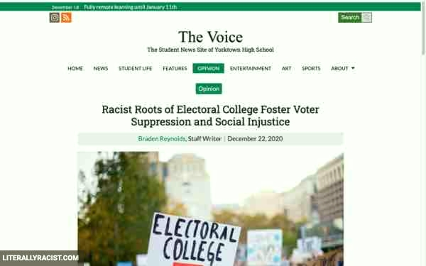 Damn White People And Their Racist Electoral College