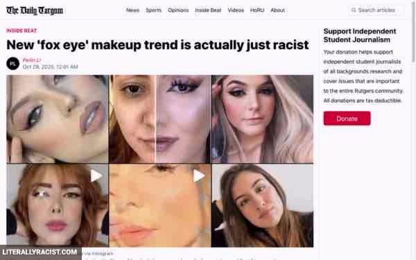 Damn White People And Their Racist Eye Makeup Trends