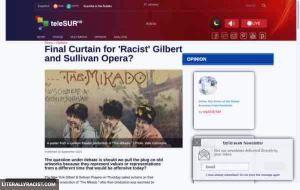 Damn White People And Their Racist Gilbert And Sullivan Operas