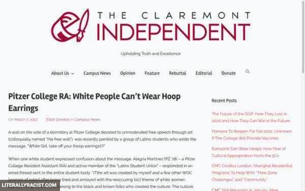 Damn White People And Their Racist Way Of Wearing Hoop Earrings