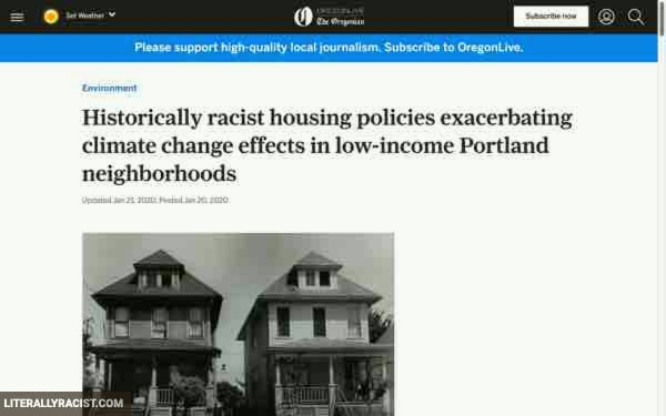 Damn White People And Their Racist Housing Policies That Increase The Temperature