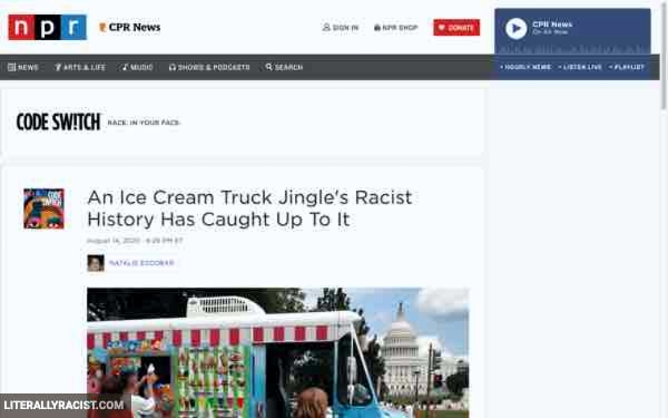 Damn White People And Their Racist Ice Cream Truck Jingles