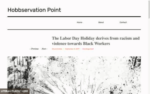 Damn White People And Their Racist Labor Day
