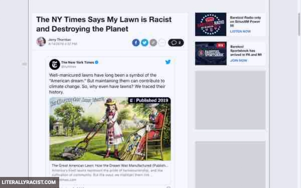 Damn White People And Their Racist Lawns